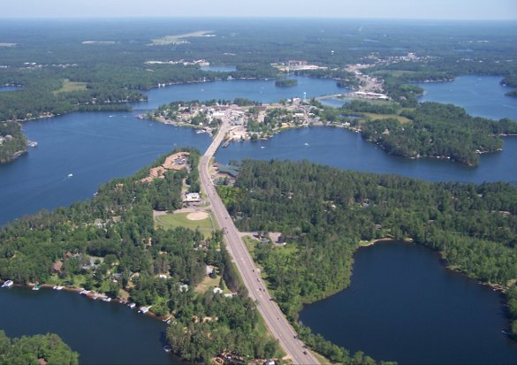 aerial view of minocqua N11445 Co Rd A LOT 18, Tomahawk, WI 54487